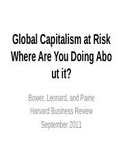 Global capitalsim at risk.pptx