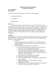 MBA 603 Innovation Management-case assignment 07