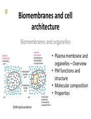 9-Membranes and Organelles