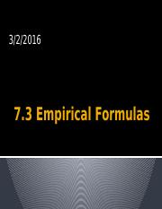 7.3 empirical formula.pptx