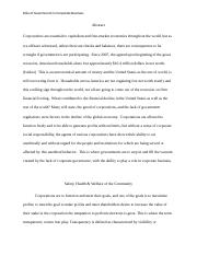 Abstract team term paper