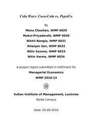 coke vs pepsi in india case study