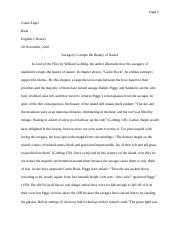 lord of the flies paper