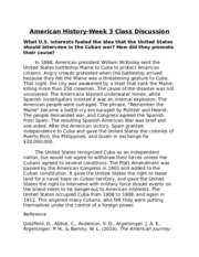 American History-Week 3 Class Discussion