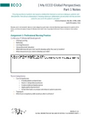 My_ECCO_Global_Perspectives_Part_1_Notes - | My ECCO Global