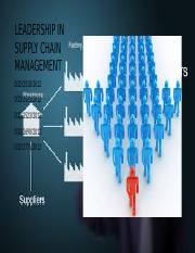 leadership in supply chain management(1)