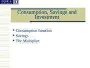 Lec-12B - Revison- Consumption Savings and Investment