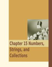 15.Numbers, Strings, and Collections