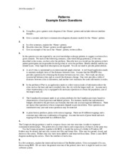 EECS 3411 Pattern Questions Exam