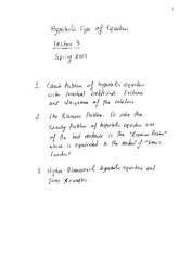 Hyperbolic type of Equations