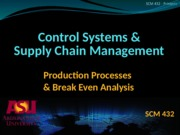 Ch.6 - Production Processes & Break Even Analysis (Bb)