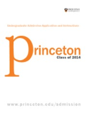 Princeton Application Instructions