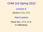 9 CHM116A Lecture 9-Student (revised)