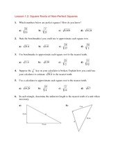 MATH 10 Non-Perfect Squares Worksheet Solutions
