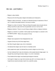 Religions of the East 100 Lecture 2