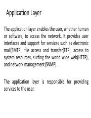 Application Layer FTP