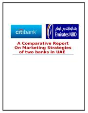 a comparitive report on marketing strategies of any two banks in UAE.docx