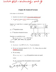 Lecture 10 Analysis of Variance