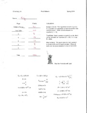 exam1 spring 2014 Math 144-08 - spring 2014 - exam 1 1 answer each of the questions to the best of your ability you are not allowed the use of a calculator or notes on this exam.