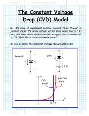 The Constant Voltage Drop Model