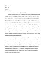 Expository Essay Thesis Statement  Pages Essay New Interview Essay Paper also Personal Essay Thesis Statement Examples Evaluation Essay Redo  Robert Smythe Eng  Lesson  Restaurant  What Is A Thesis Statement In An Essay