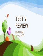 TEST 2 REVIEW