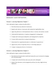 Chapter 7 - Motivation - Modules 7 and 8