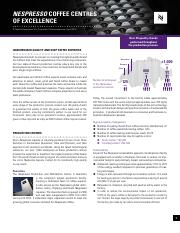 Nespresso - Corporate Production Centres Factsheet