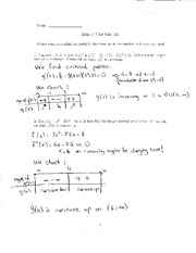 Quiz 7 Solution on Elementary Calculus