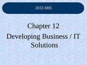 Class_23_Chapter_12_Developing_Business_IT_Solutions