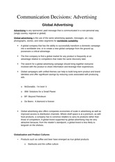 Communication Decisions- Advertising