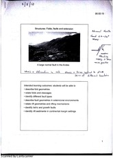 Structural Geology Stuctures - Folds Lecture Notes