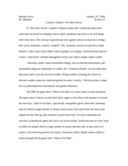 Mannino The More Factor Essay