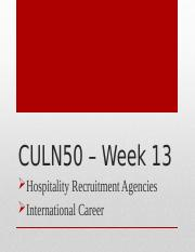 International careers - Recruitment agencies