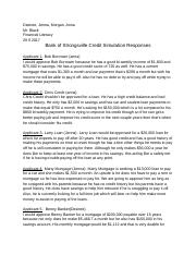 Bank of Strongsville Credit Simulation .docx