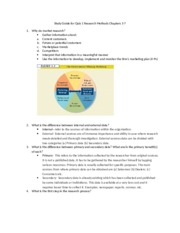 Marketing Research Study Guide #1 Chapters 1-7 (1)