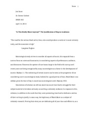 Sample Rhetorical Analysis Paper