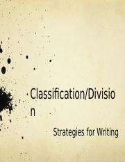 ClassificationDivision week 5