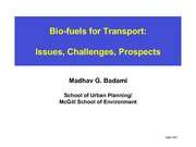 Lecture 3 Biofuels and Transport
