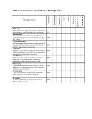 42908 A2 Literature Review Marking Criteria