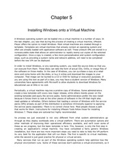 Virtual Technologies Chapter 5