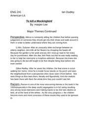 to kill a mockingbird essay questions part 2