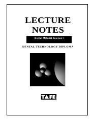 Materials Science 1 student notes 2007