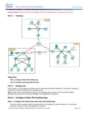 10.2.2.8 Packet Tracer - DNS and DHCP Instructions IG