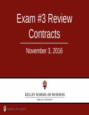 # 00  Exam #3 Review 11-3-16  fallCONTRACTS L201
