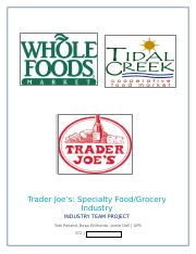 Trader Joes Industry Project Example