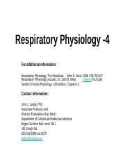 L4 - Respiratory System - Gas Exchange 2