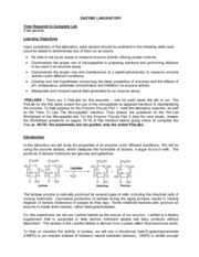 lactase enzyme lab report Lactose lab answer key follow-up questions: 1  explain to your students that the enzyme lactase was already added to the milk when it was processed.