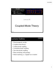 Lecture 5 -- Coupled-mode theory (1)