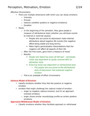 Lecture 13 Class Notes, Perception Motivation Emotion